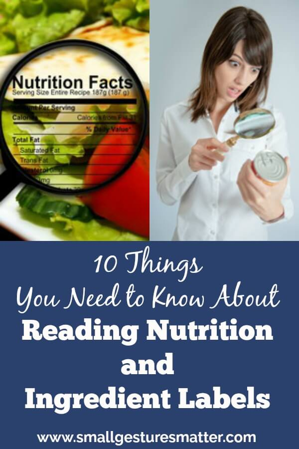 How To Read Nutrition Facts Labels and Ingredient Labels