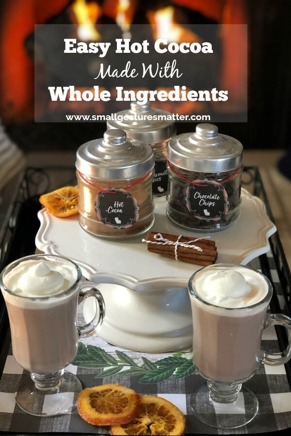 Homemade Hot Cocoa made with whole ingredients