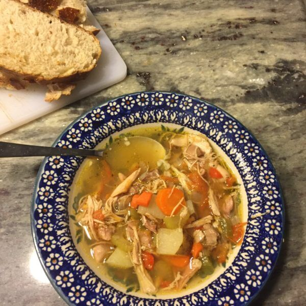 This chicken and vegetable soup combines traditional chicken soup ingredients with extra veggies for added flavor, nutrition, and heartiness.