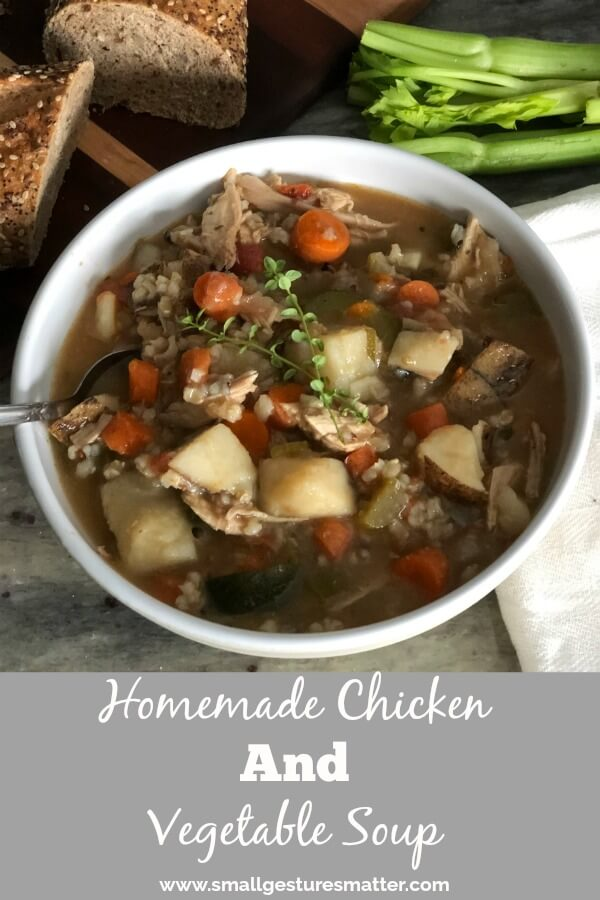 Homemade Chicken and vegetable soup