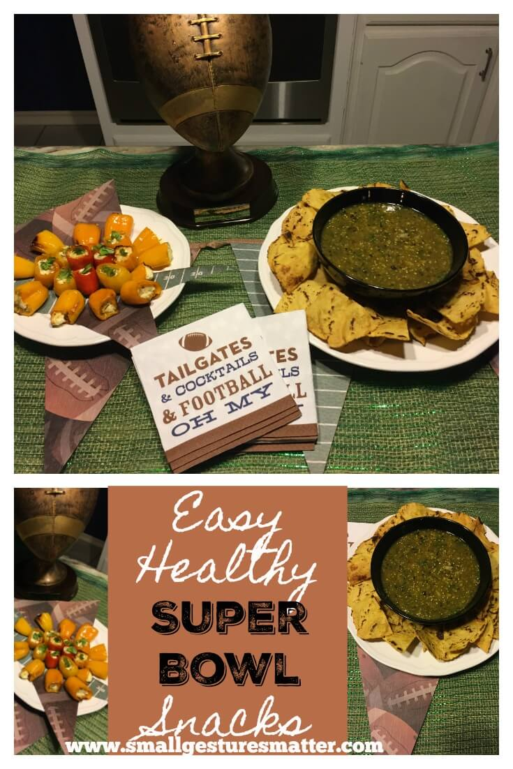 Looking for an easy, healthy alternative to your Super Bowl Spread? We gotcha covered with these Tomatillo Salsa and Goat Cheese Stuffed Mini Peppers.