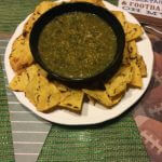 This tomatillo salsa uses fresh whole ingredients. It is sweet and delicious!