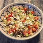 Light and Clean Whole Wheat Couscous Salad is a perfect summer side dish!