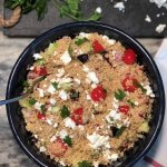 Whole Wheat Couscous Salad with Feta Recipe