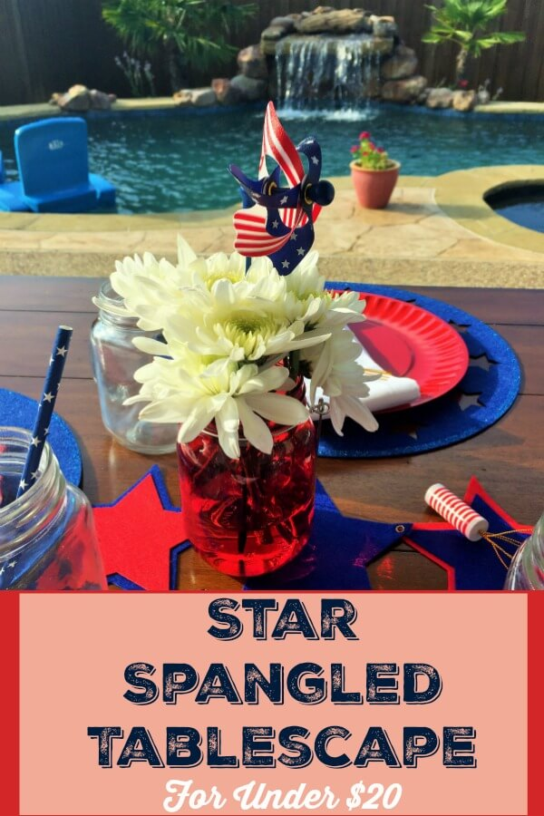 Star Spangled tablescape is perfect for your patriotic party.