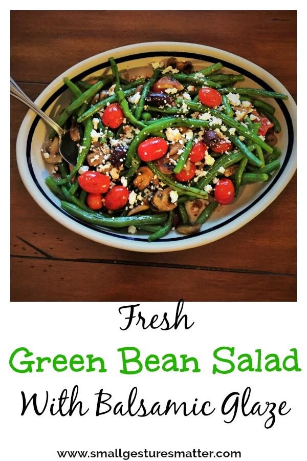 Warm Green bean salad with balsamic glaze