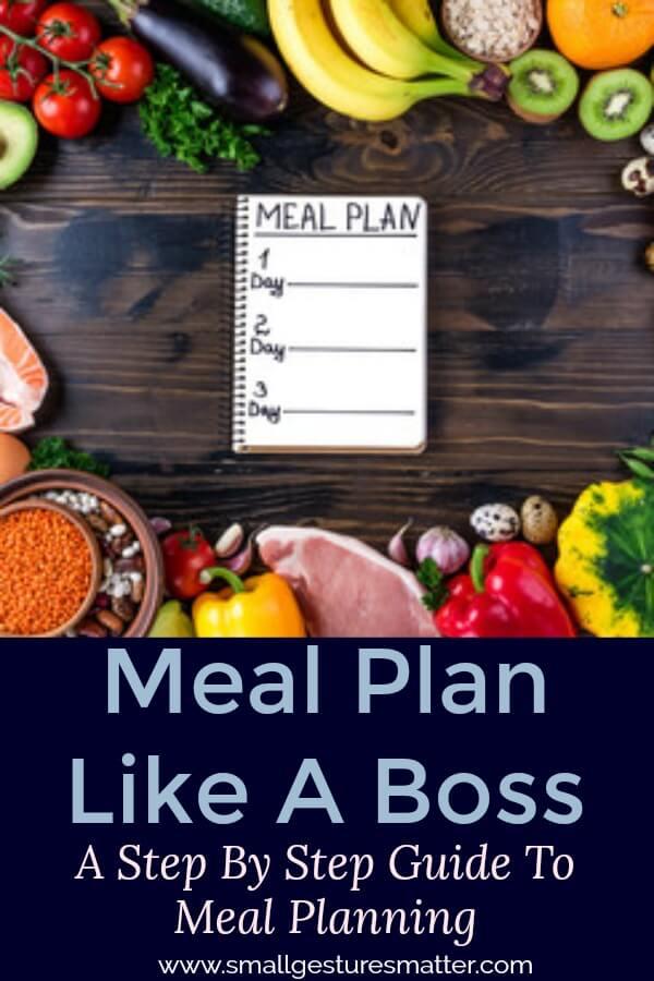 Meal Plan Like A Boss