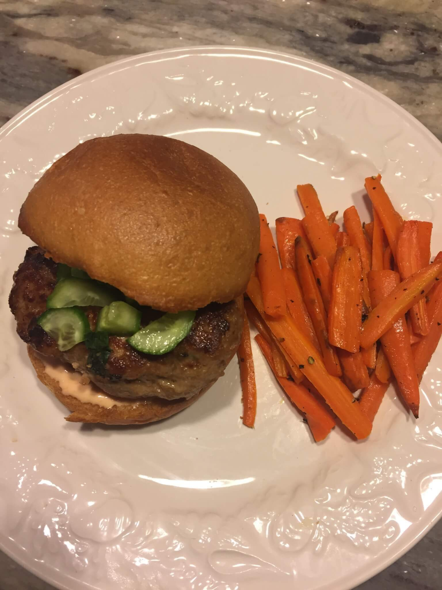 Hello Fresh Bahn Mi Burger for My Hello Fresh Review