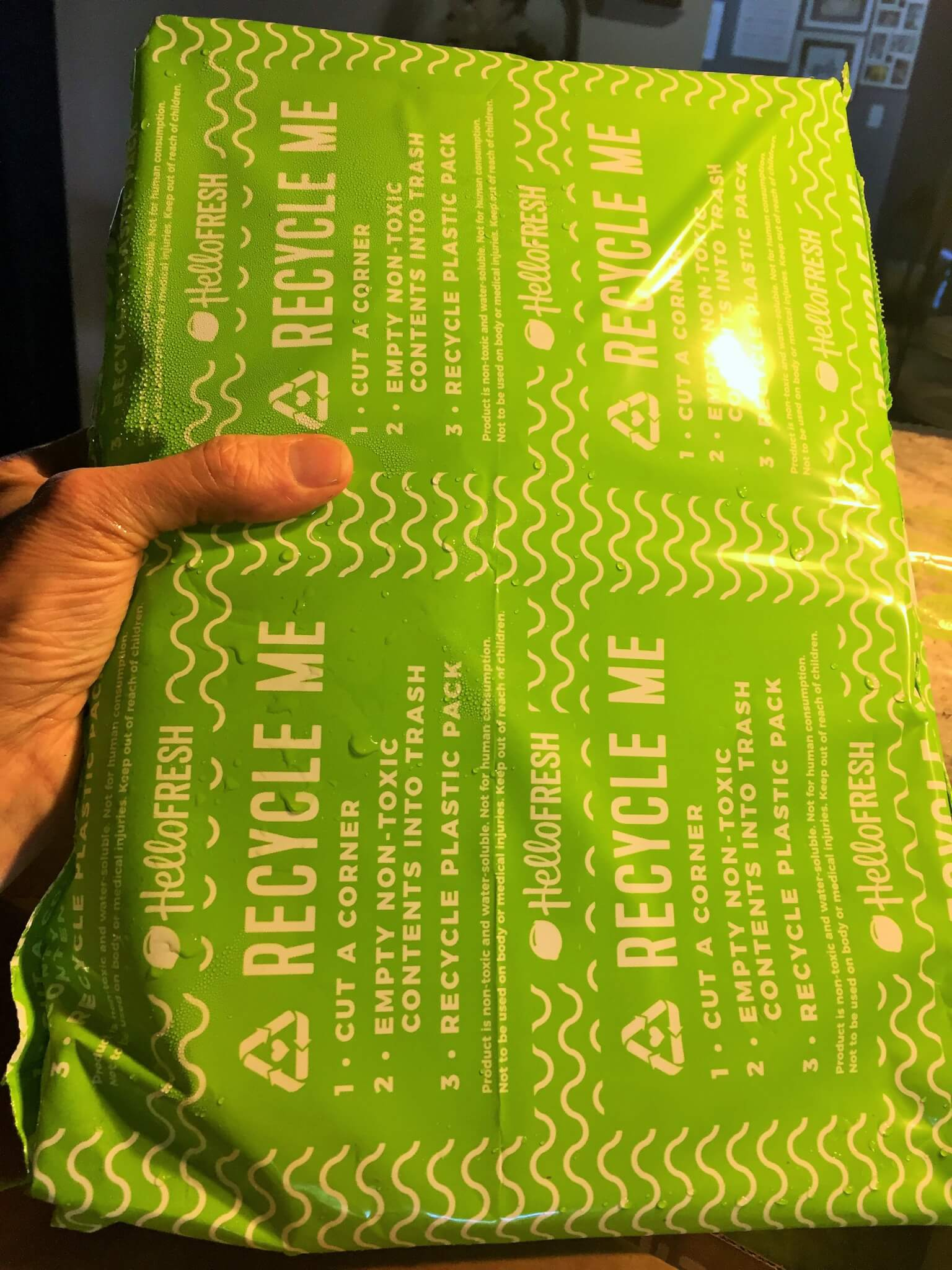 Ice Packs from Hello Fresh Box