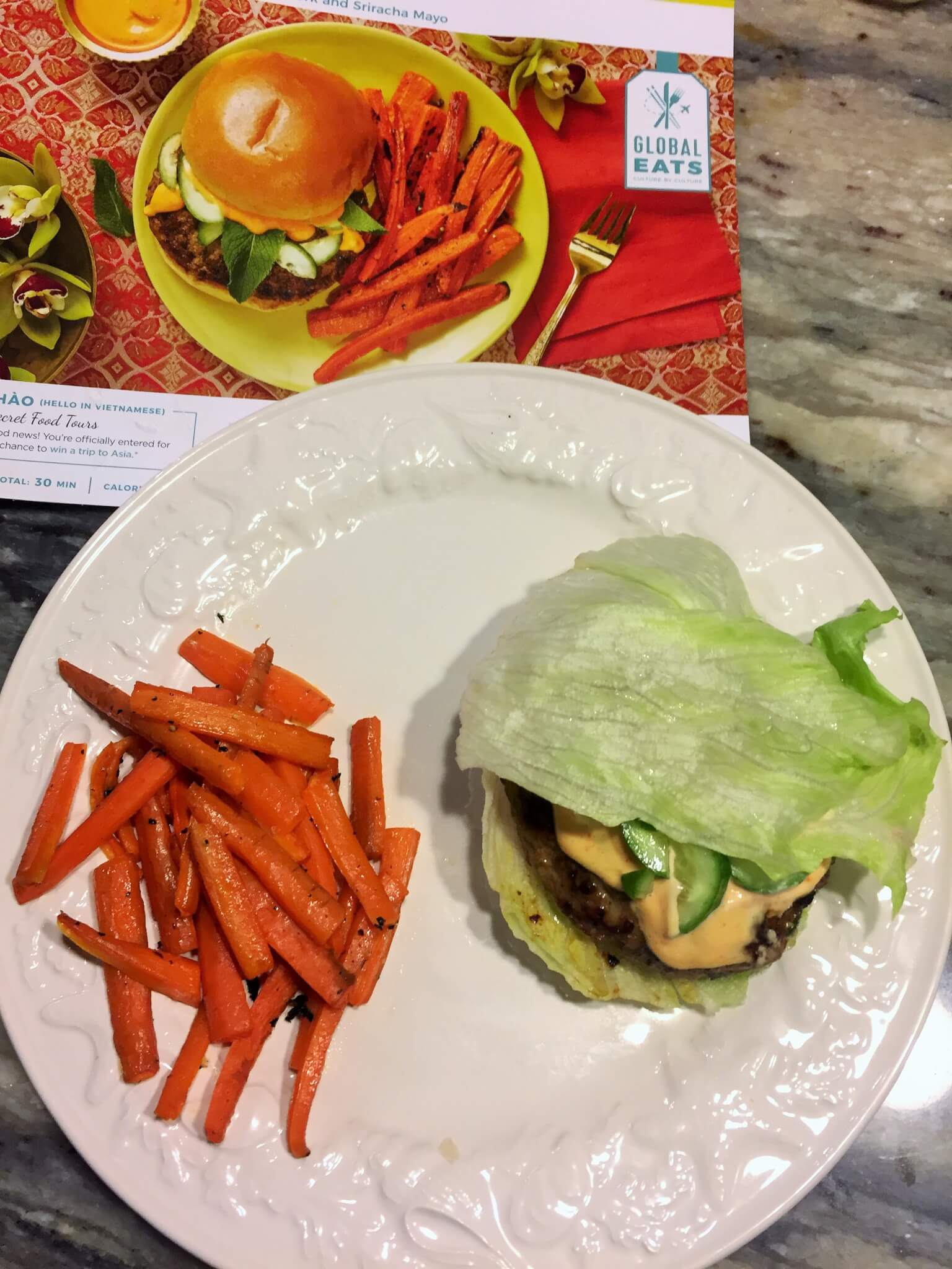 Hello Fresh Banh Mi Burger without bun for My Hello Fresh Review