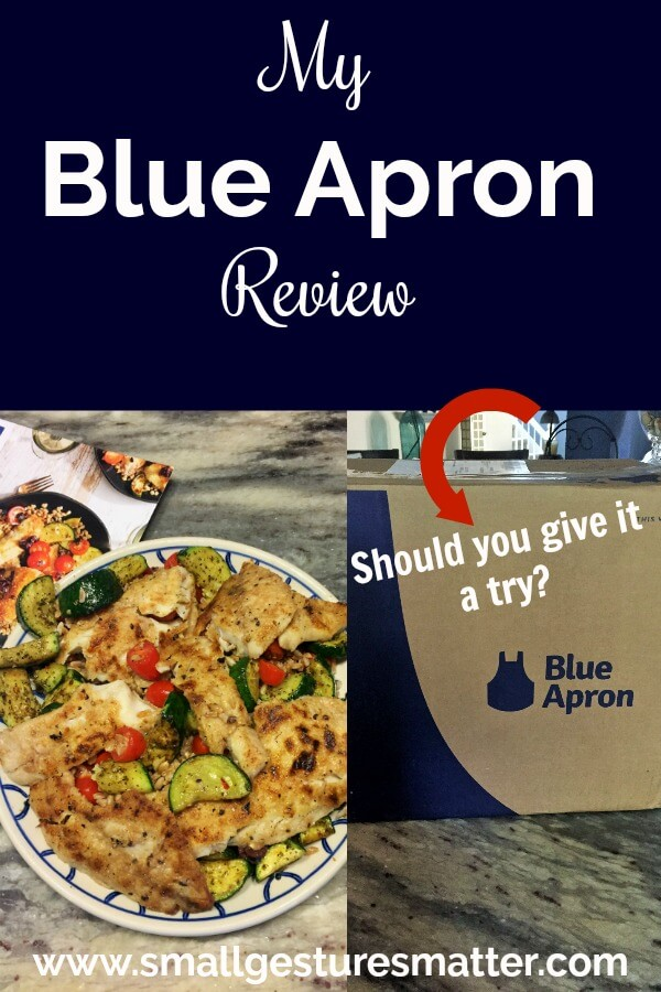 Blue Apron Box and Meal