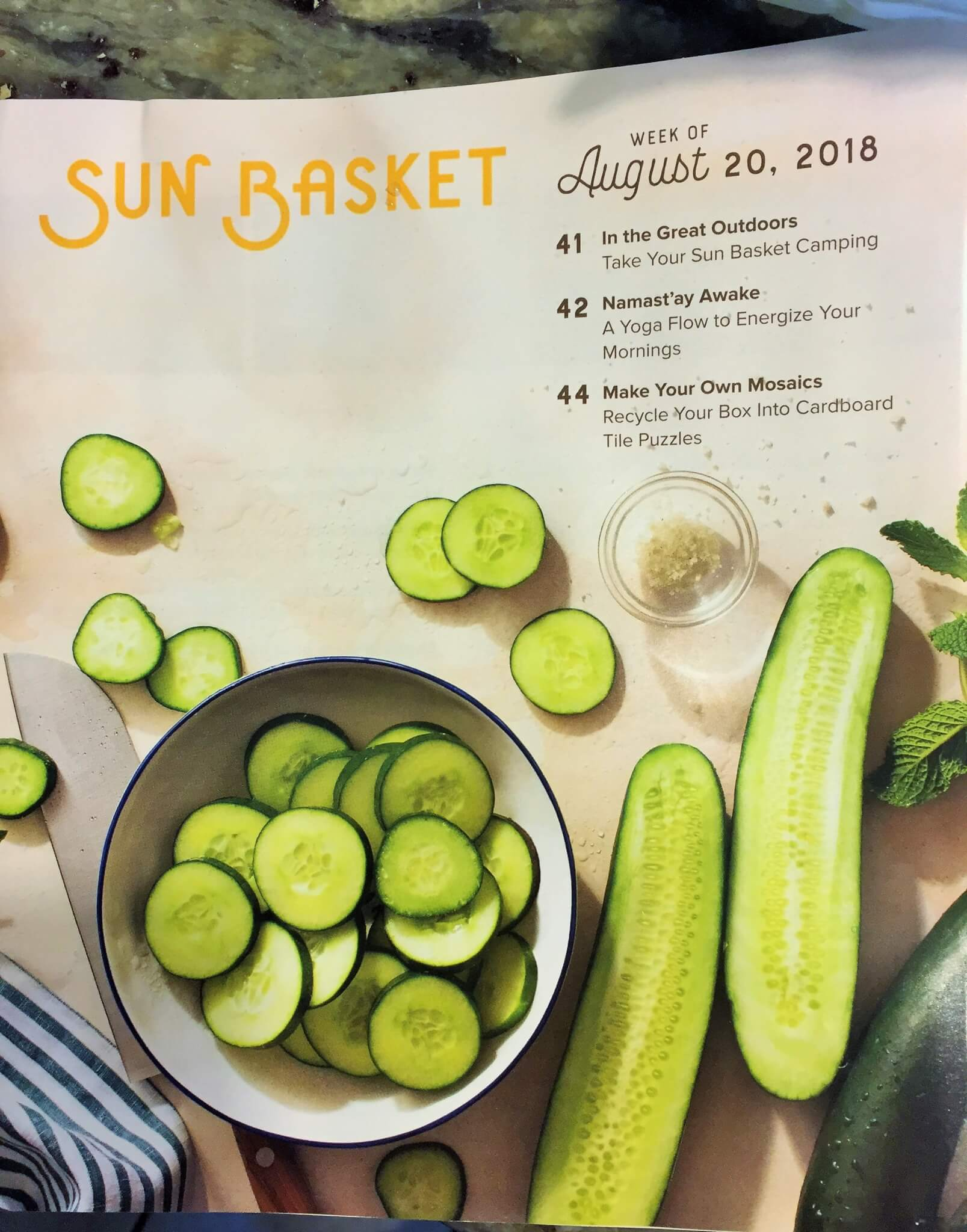 Sun Basket Meal Kit Cookbook