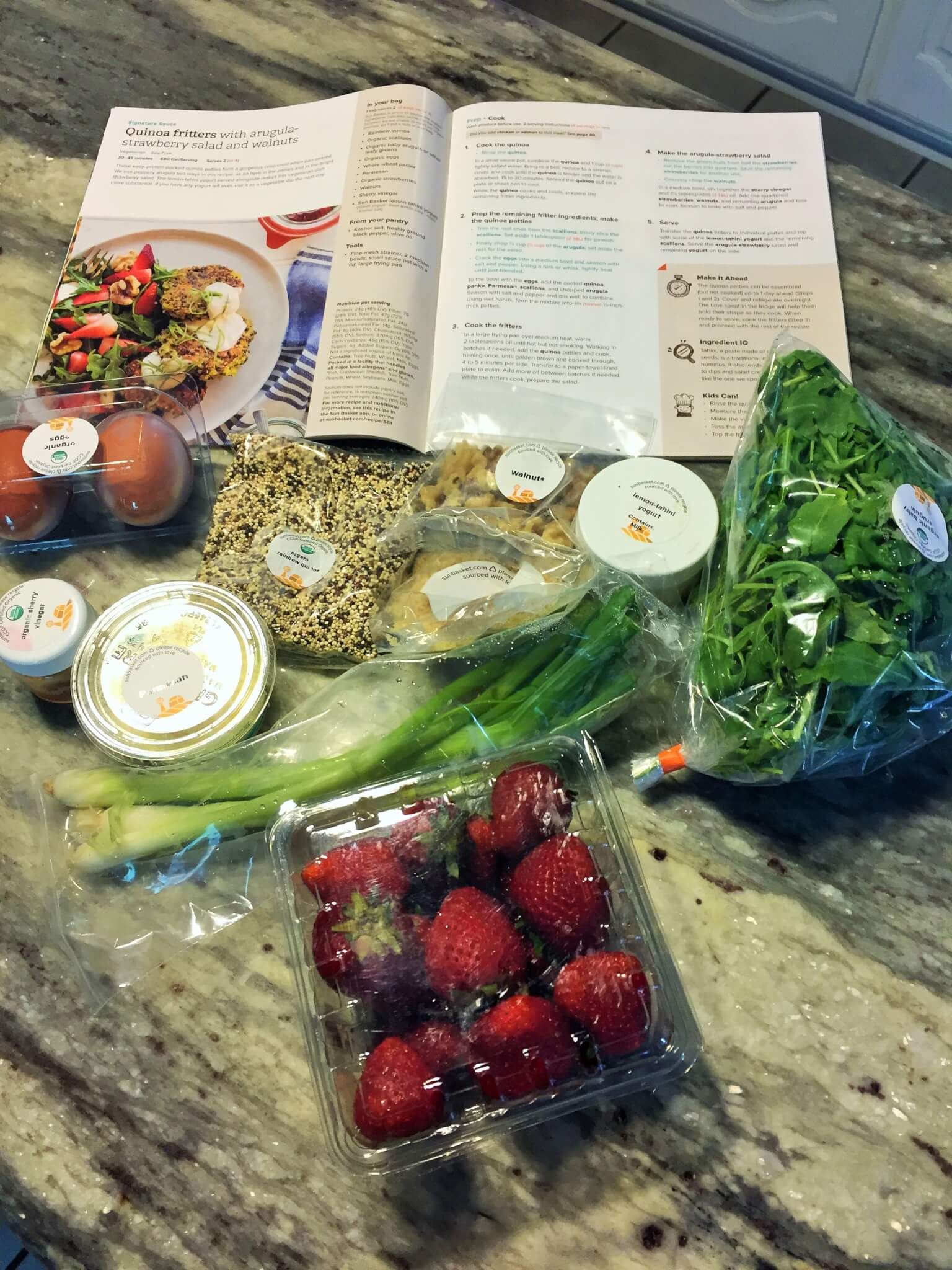 Sun Basket Meal Kit Contents