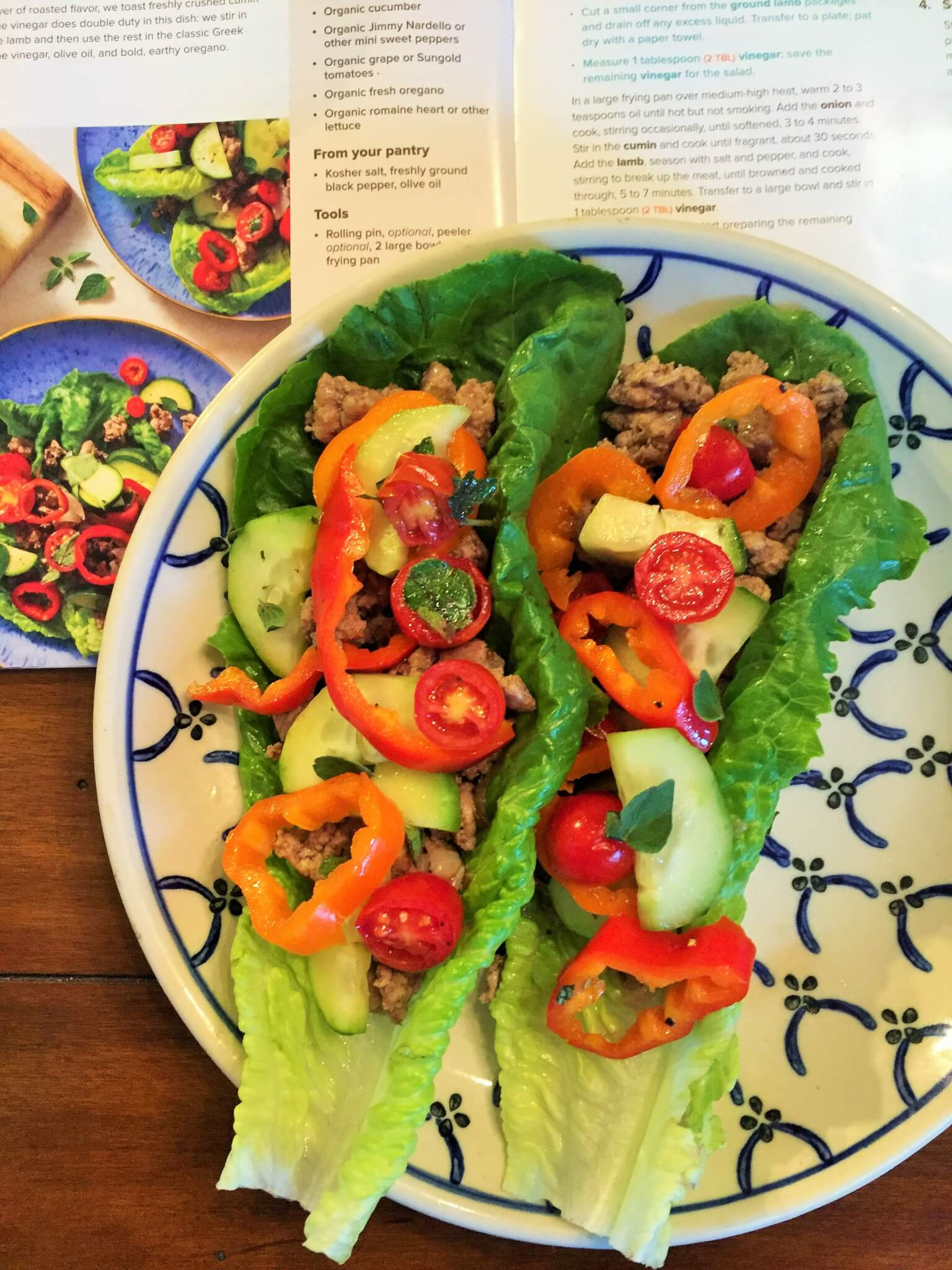 Sun Basket Mediterranean Lettuce Wraps - My Sun Basket Review