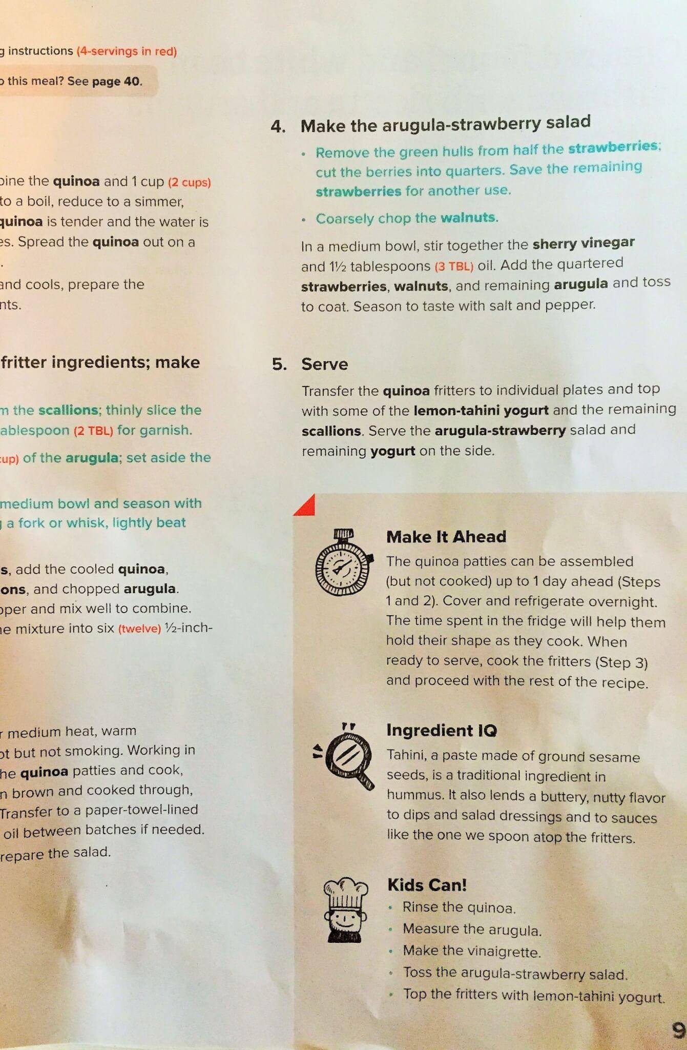 Recipe Card from Sun Basket