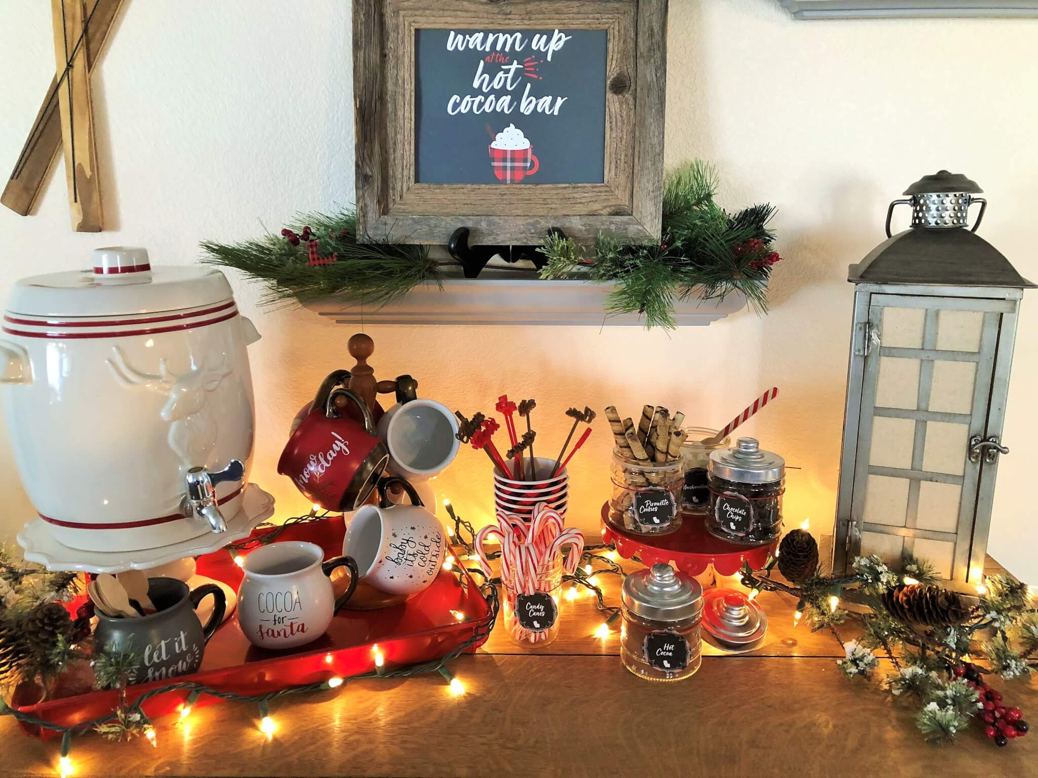 Hot Cocoa Bar with Toppings and printables