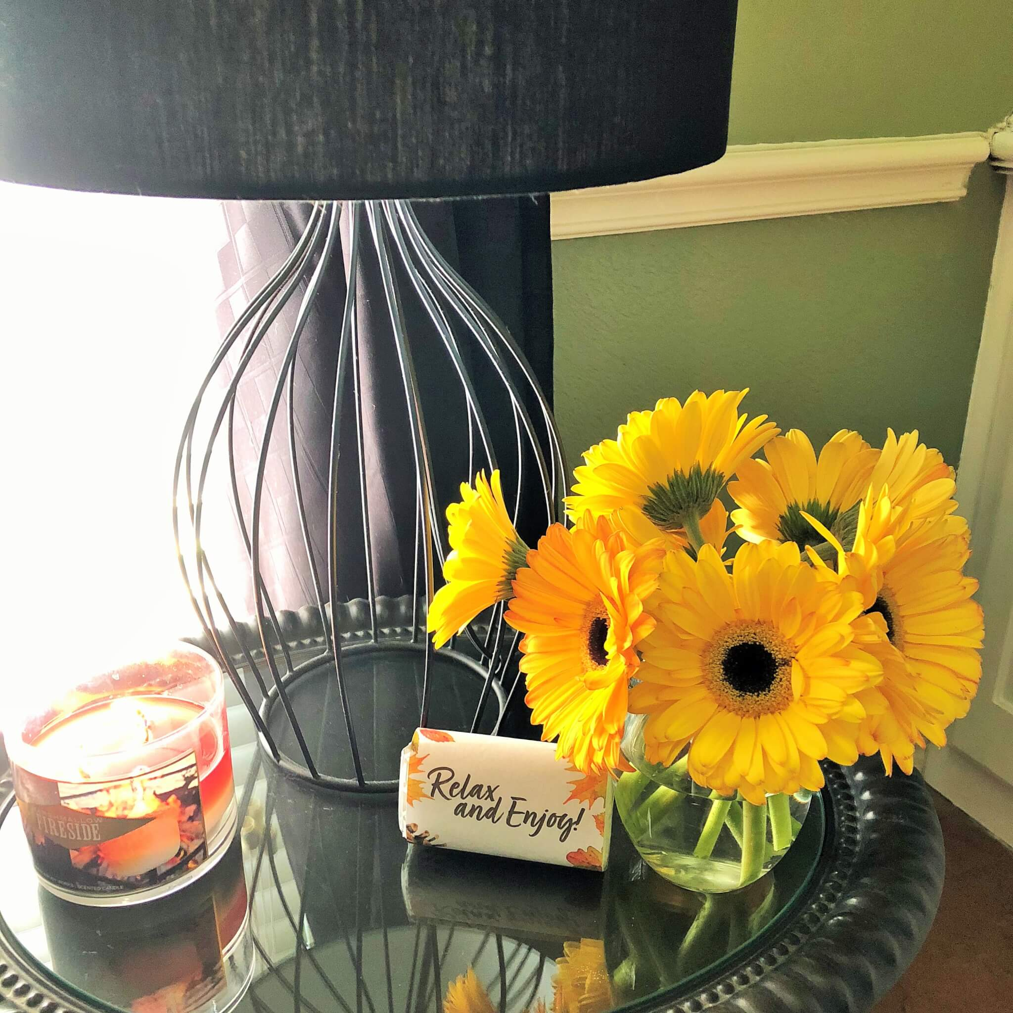 fall flowers for holiday guest room