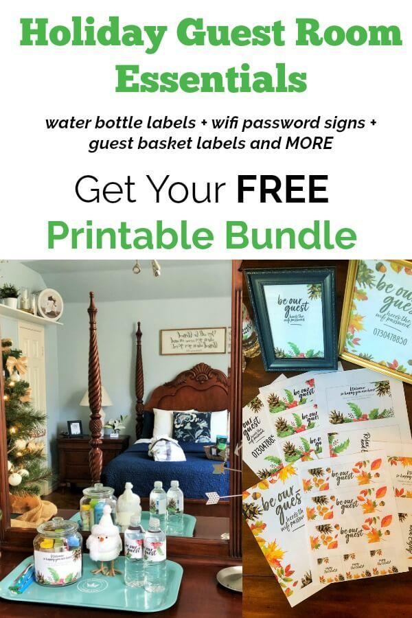 FREE Guest Room Printables