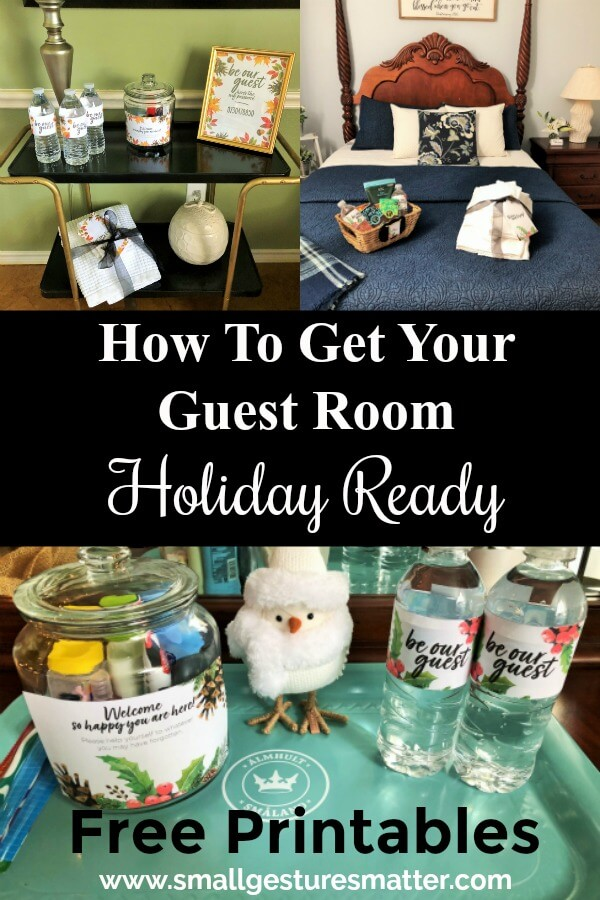 Get your guest room holiday ready with these essentials. FREE PRINTABLES included