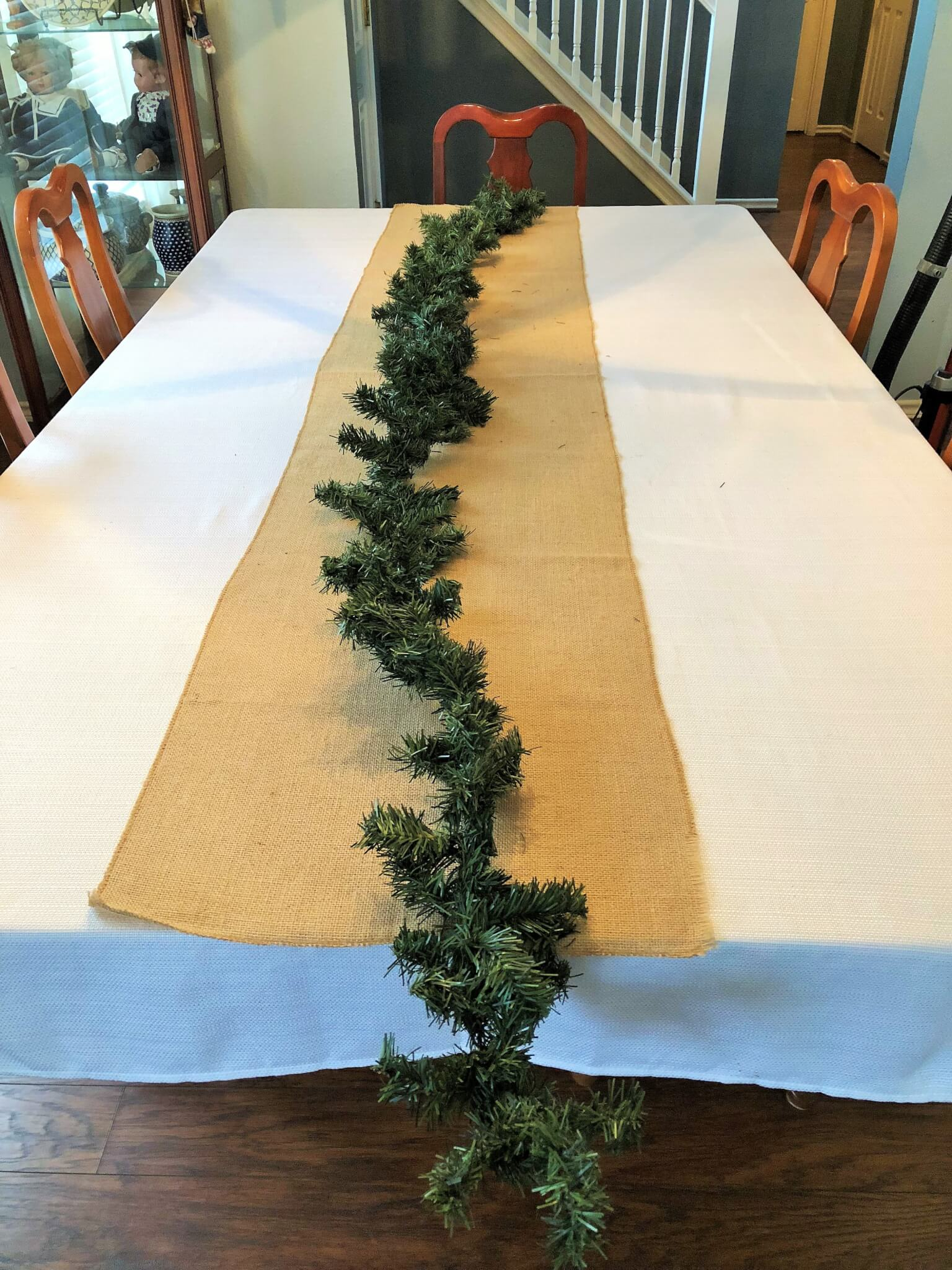 Christmas Garland for Christmas Table Centerpiece