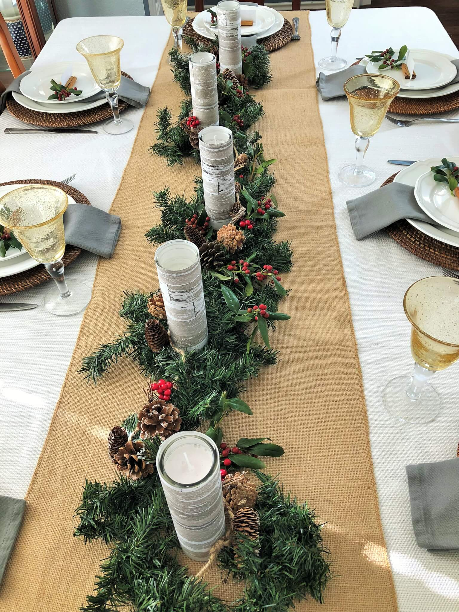 Christmas Centerpiece for Christmas Tablescape