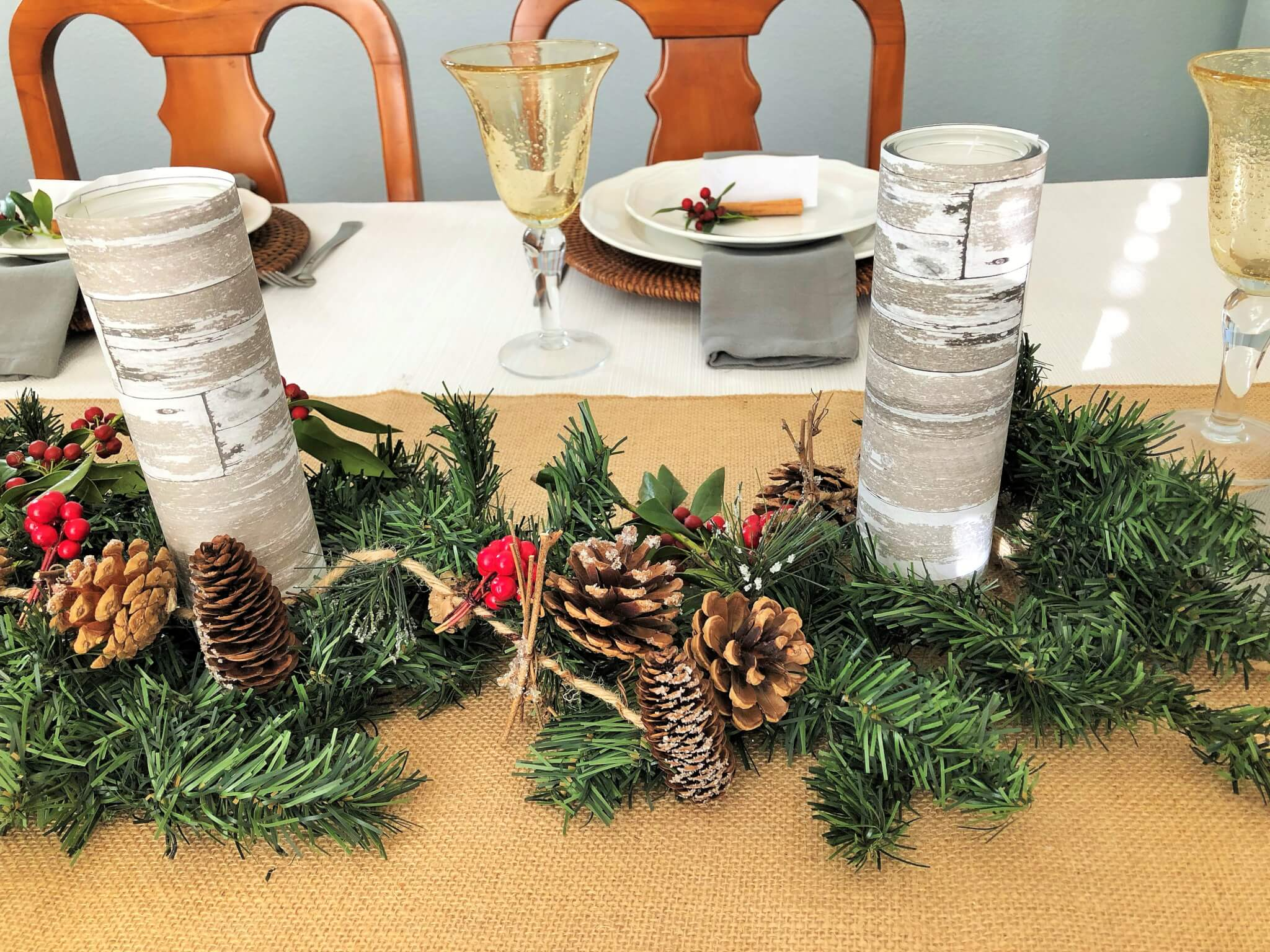 DIY Christmas Garland for Christmas Centerpiece