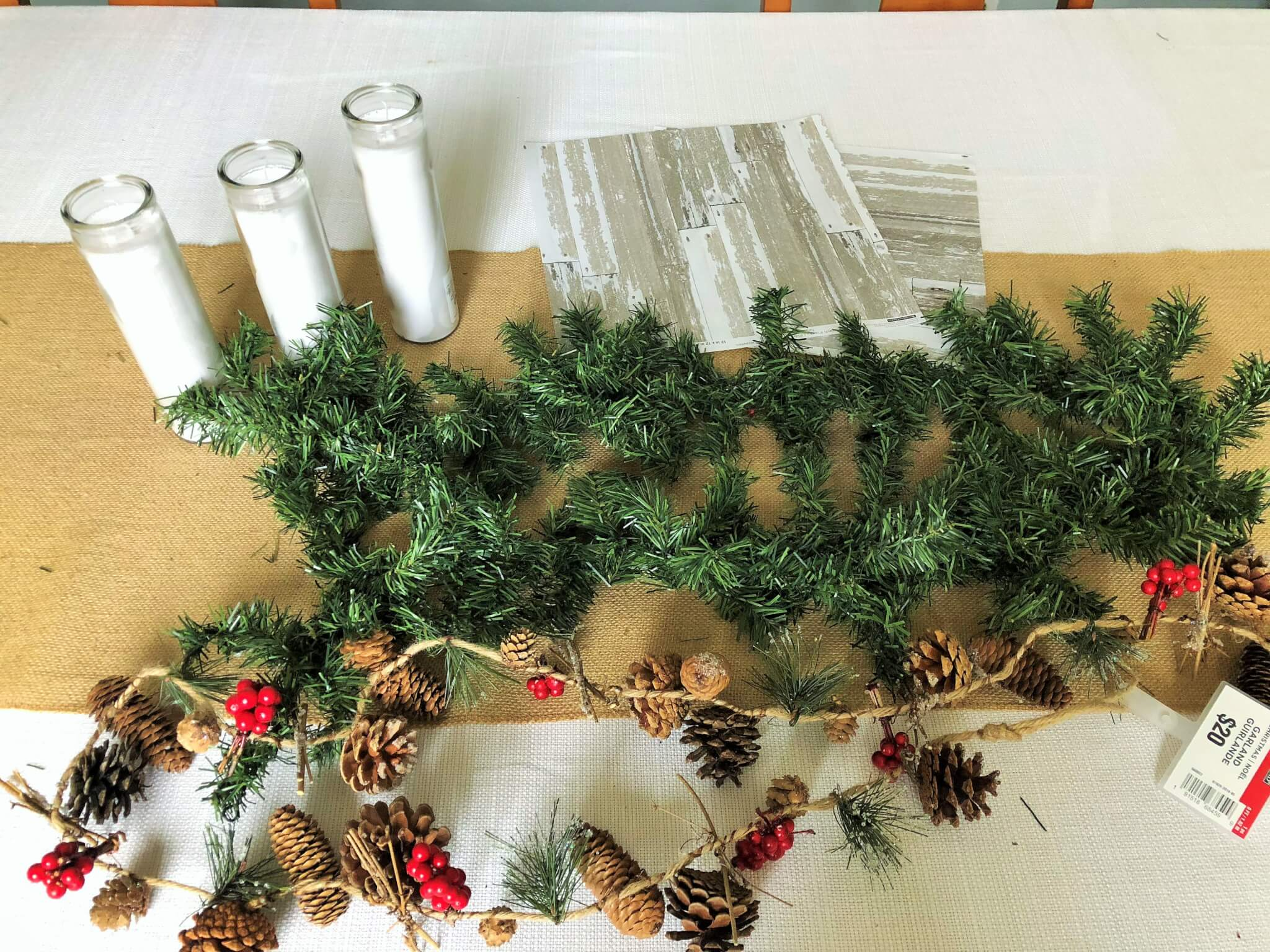 Christmas Centerpiece for Under $20 with items from Dollar Tree and Michaels