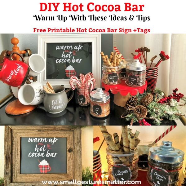 DIY Hot Cocoa Bar Tips and Ideas Free printables!