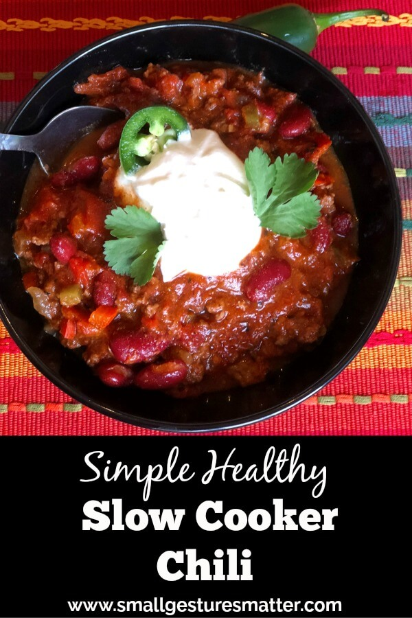 Simple Healthy Slow Cooker Chili