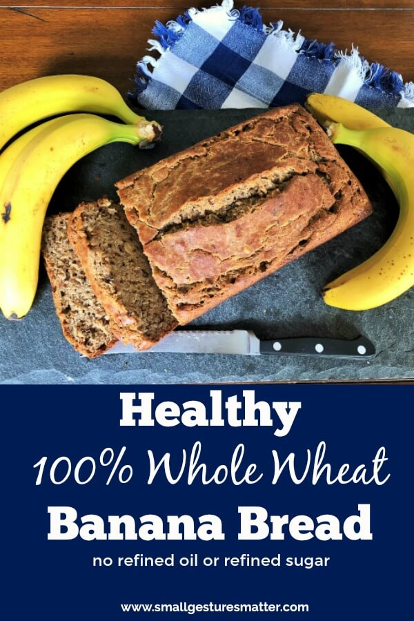 Whole Wheat Banana Bread Made With No Refined Sugar or Refined Oil