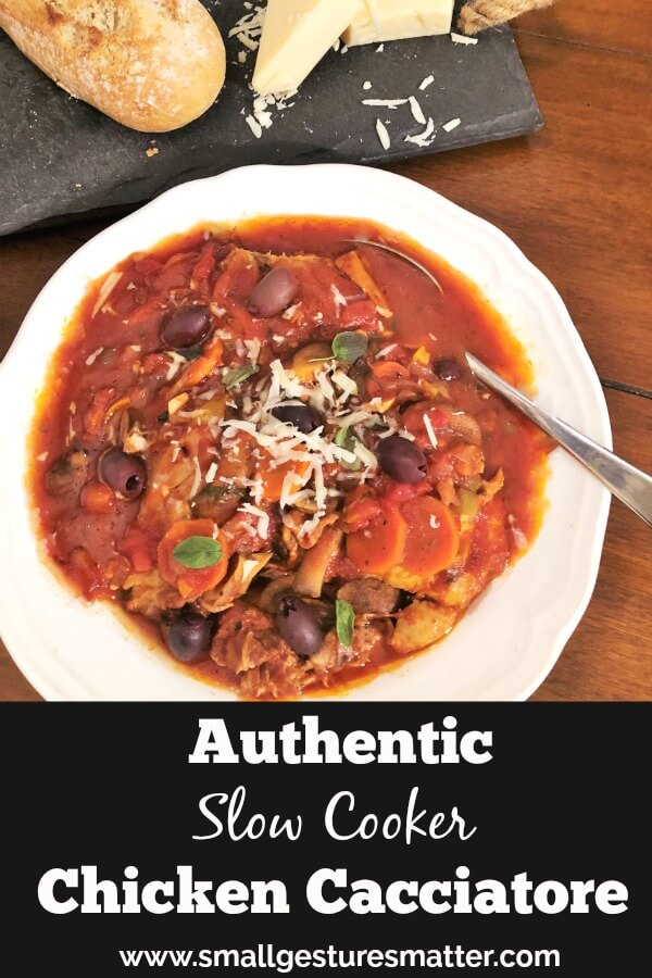 Authentic Slow Cooker Chicken Cacciatore