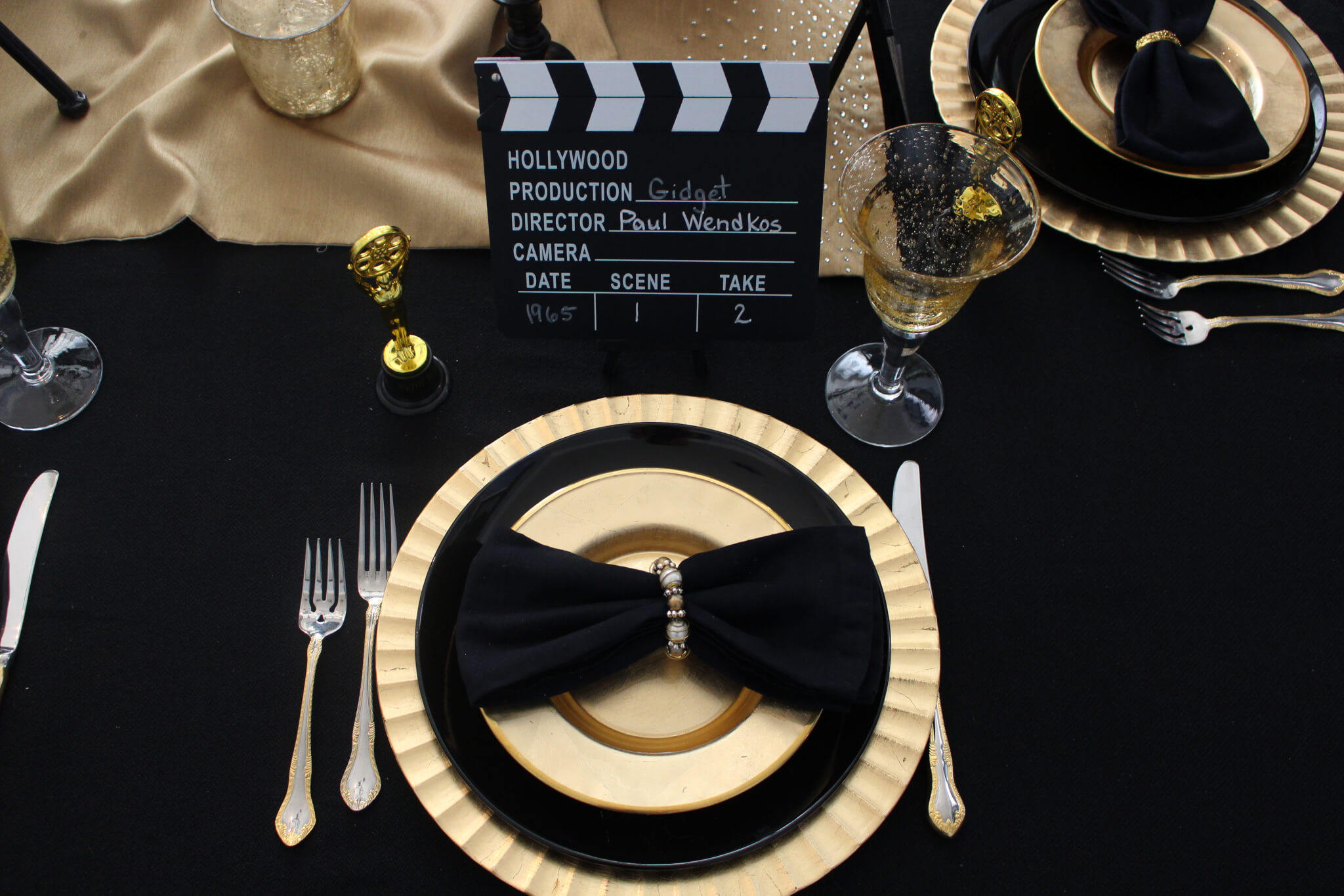 Oscar Night Table Setting