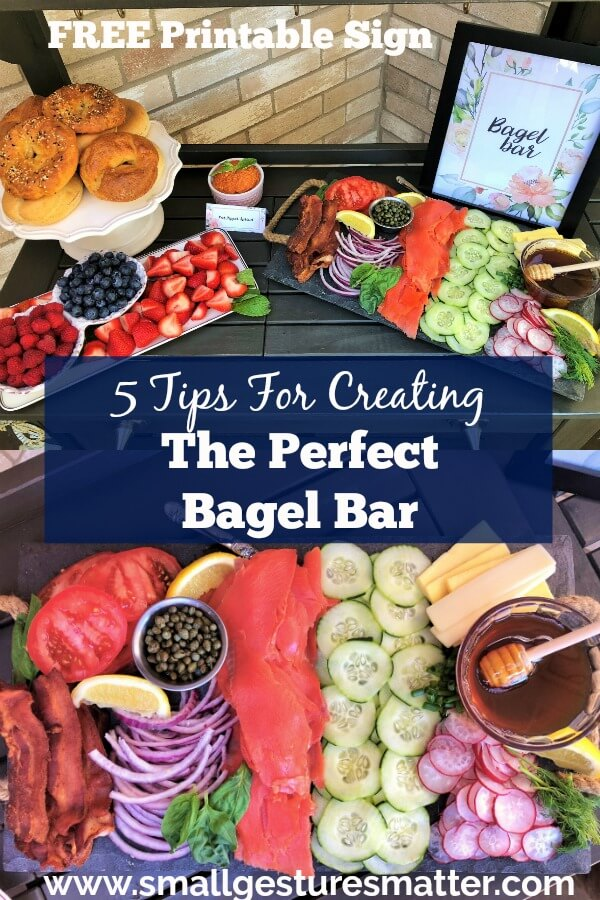 DIY Bagel Bar with Toppings and FREE Printable Signs