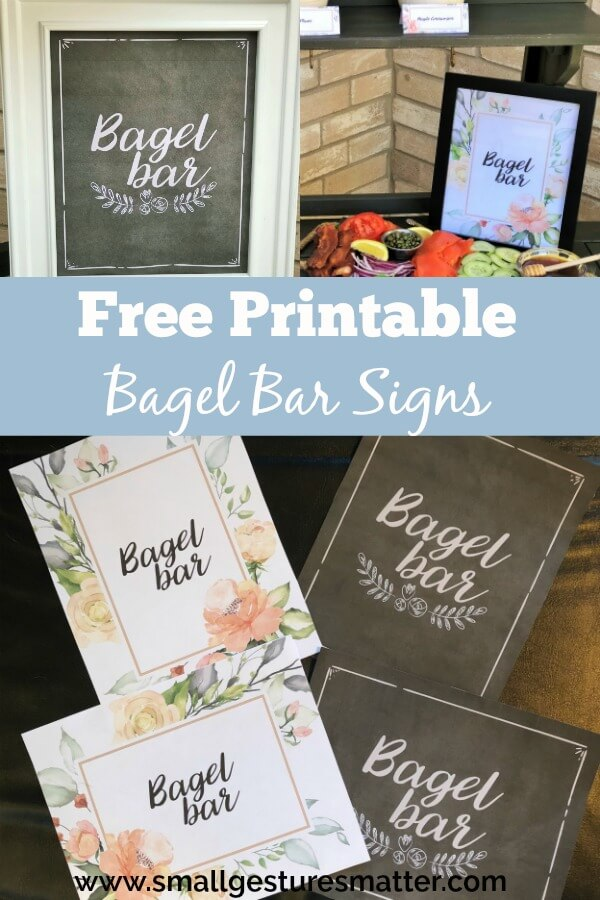 Free Printable Bagel Bar Signs