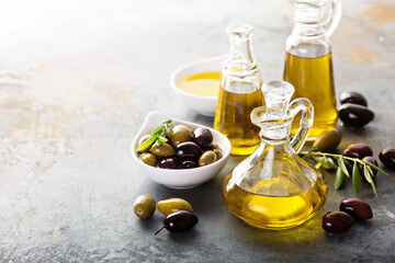 Healthy unrefined oils - olive oil
