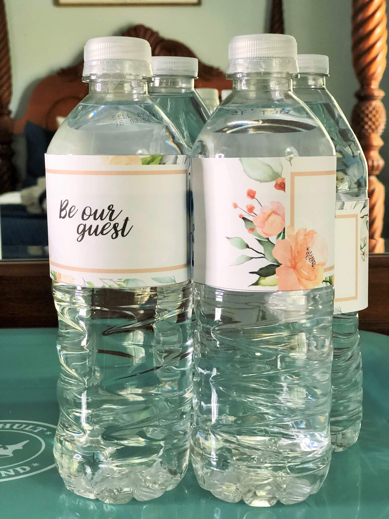Be our guest waster bottle labels free printables