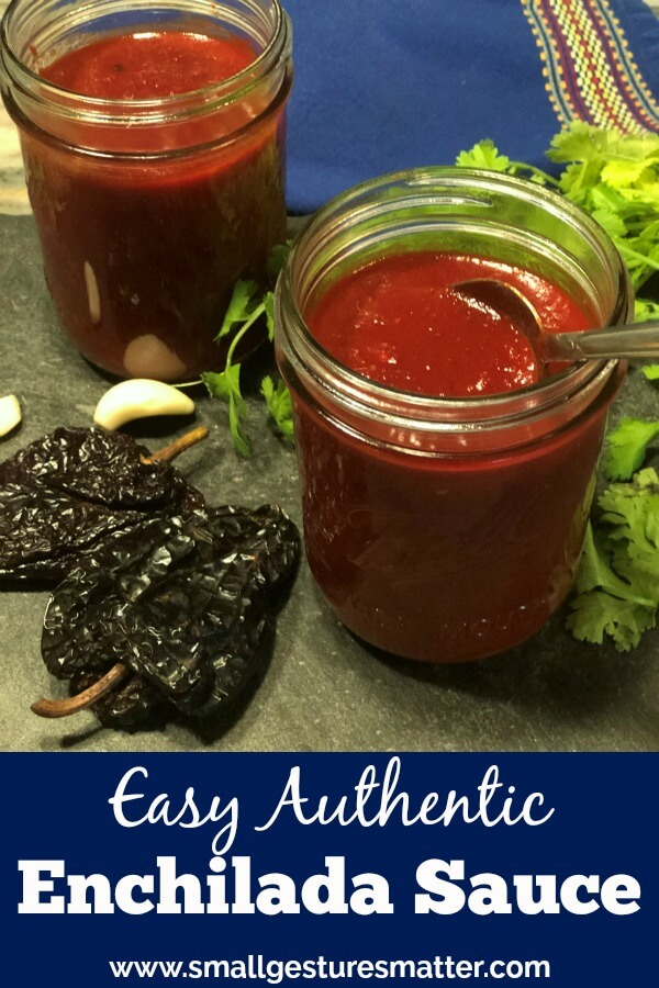 Homemade Red Authentic Enchilada Sauce in Mason Jar