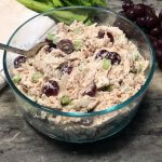 Healthy chicken salad recipe made with yogurt