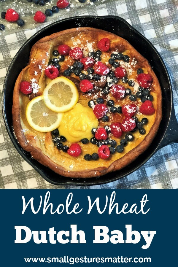 Whole Wheat Dutch Baby in Cast Iron Skillet