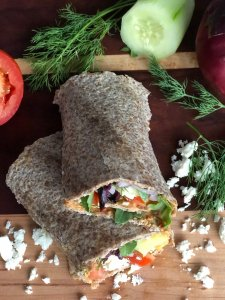 Veggie Wraps with Feta