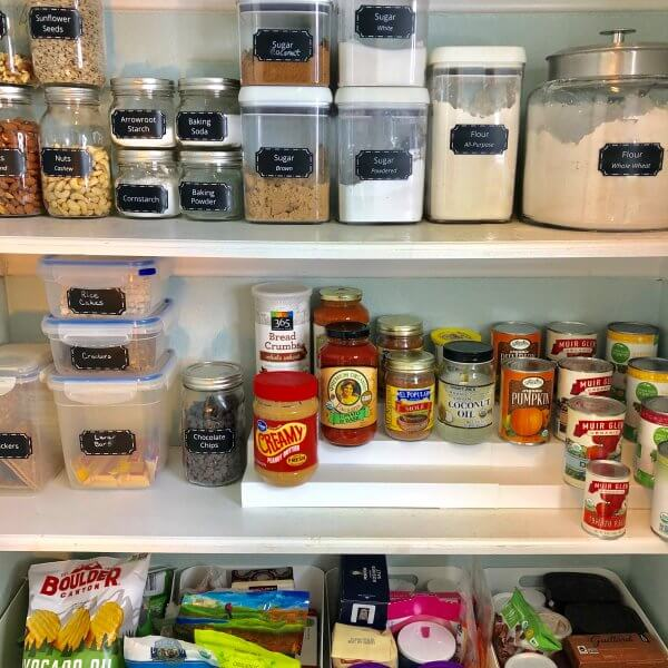 Pantry Organization Makeover After Pic