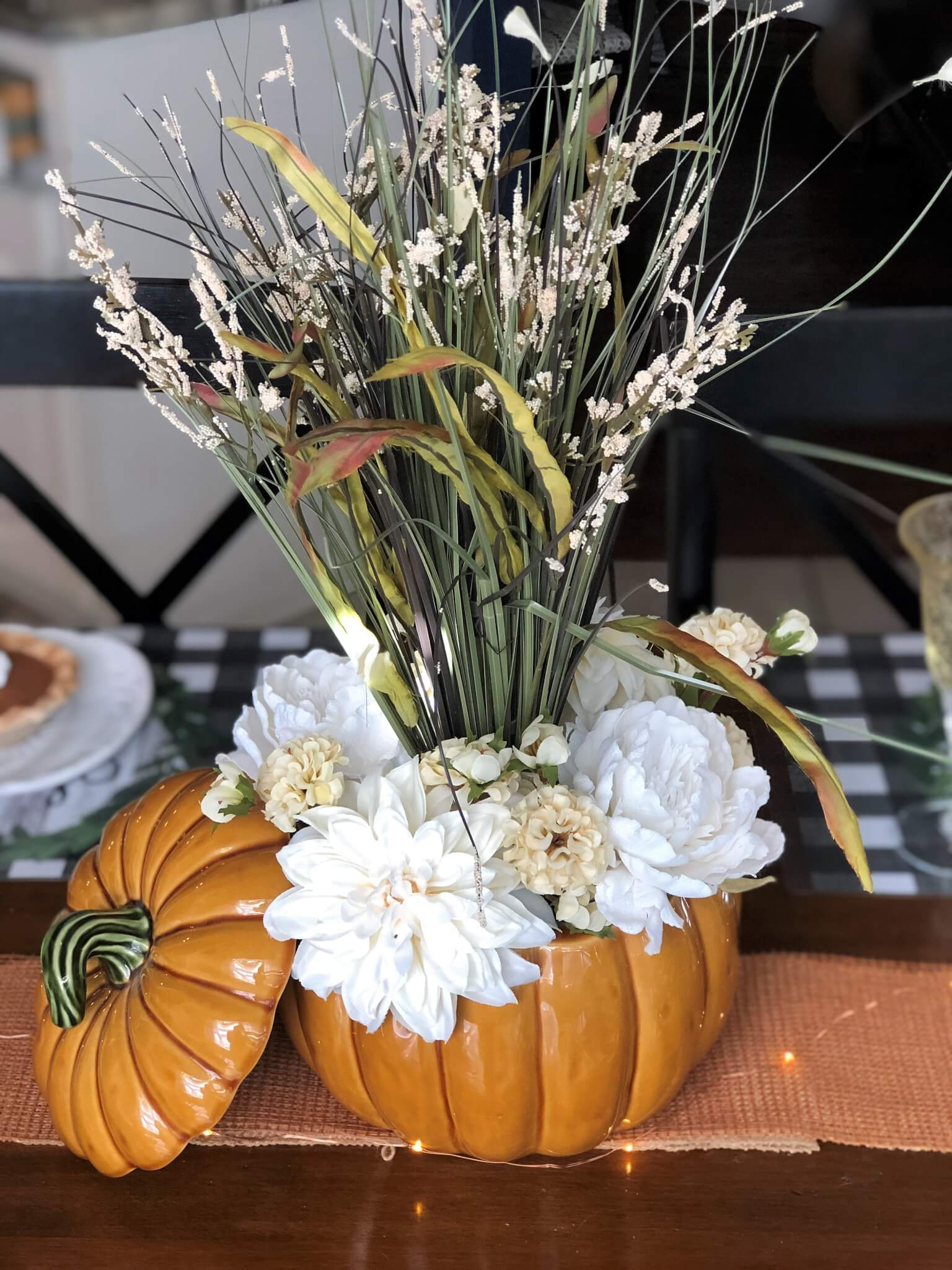 DIY Floral Fall Centerpiece