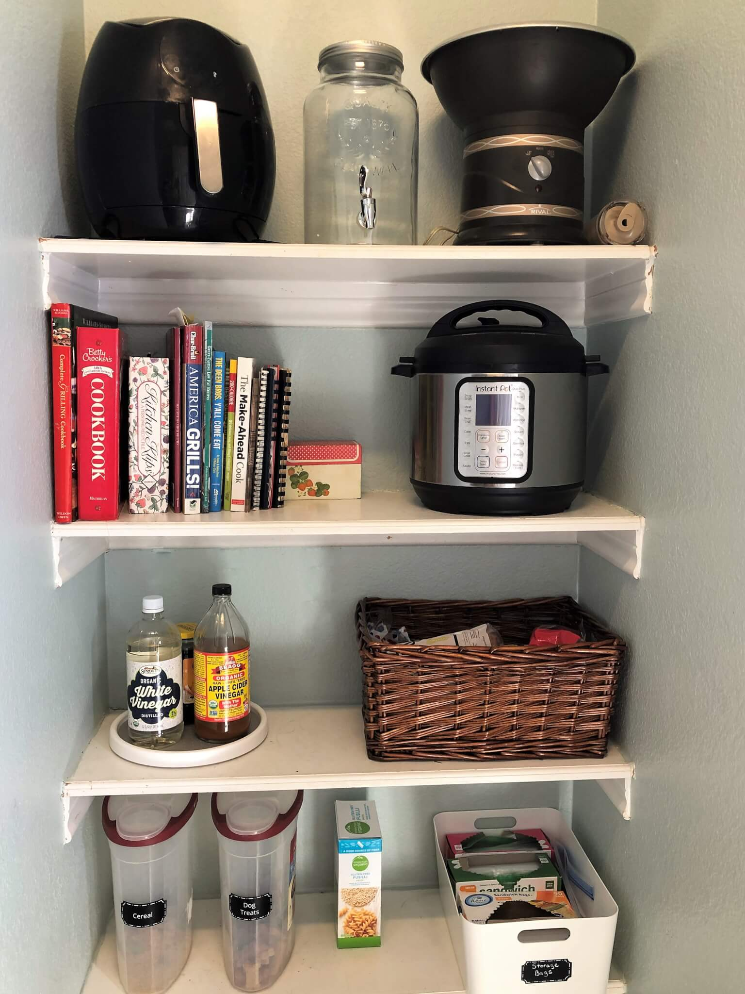 Pantry Organization After Picture