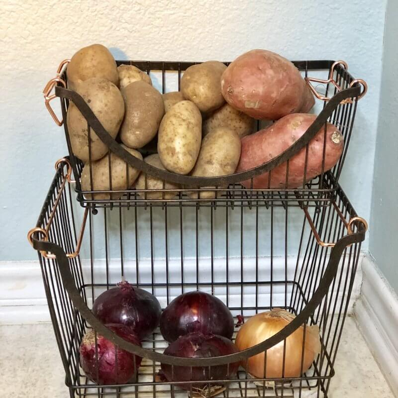 Produce Baskets from Walmart for Pantry Storage Makeover