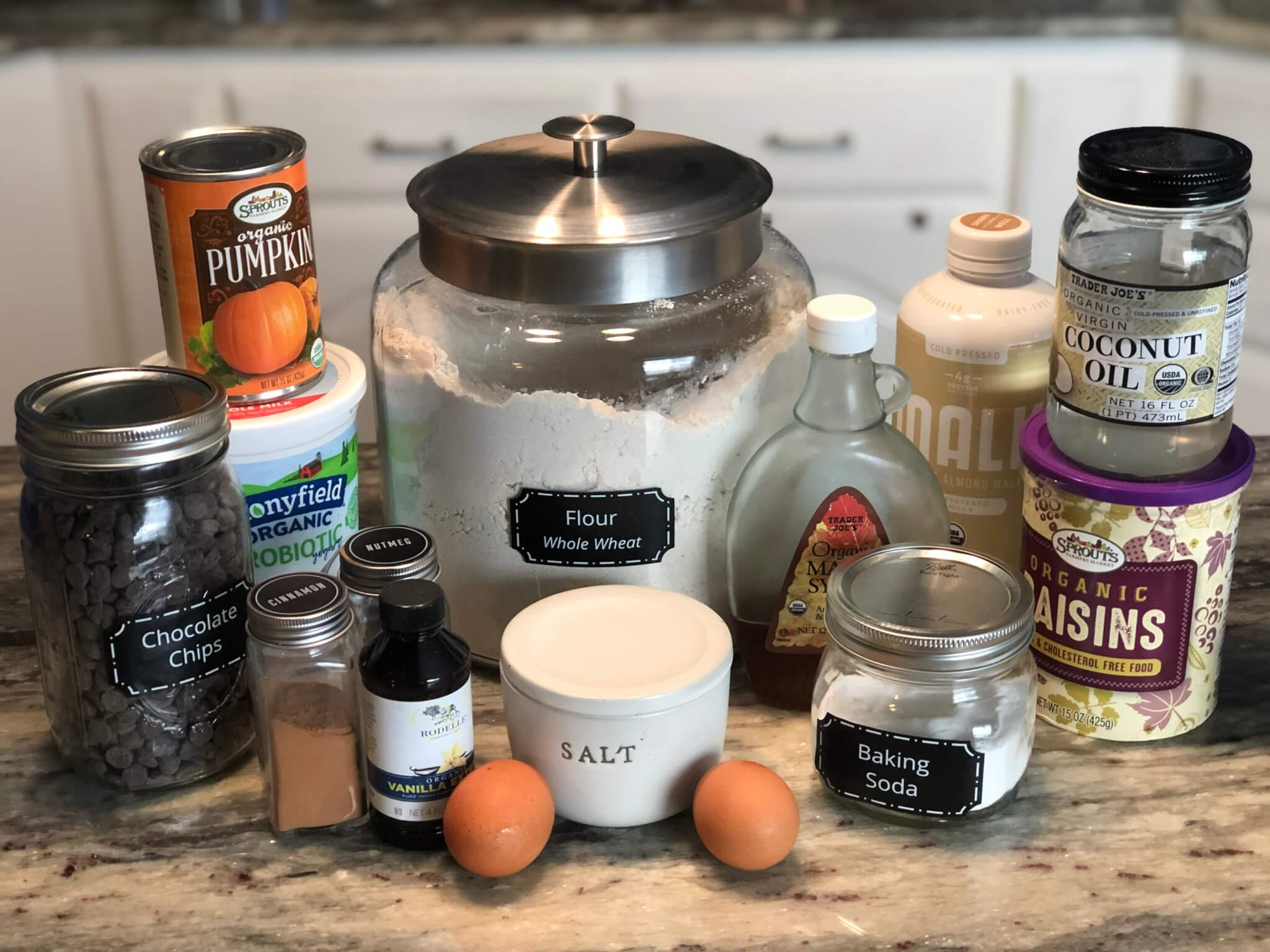 Whole Wheat Pumpkin Muffin Ingredients