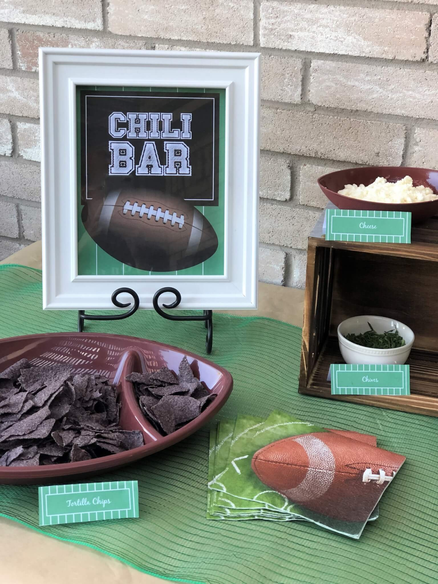 Chili Bar Ideas and Tip with Free Printables