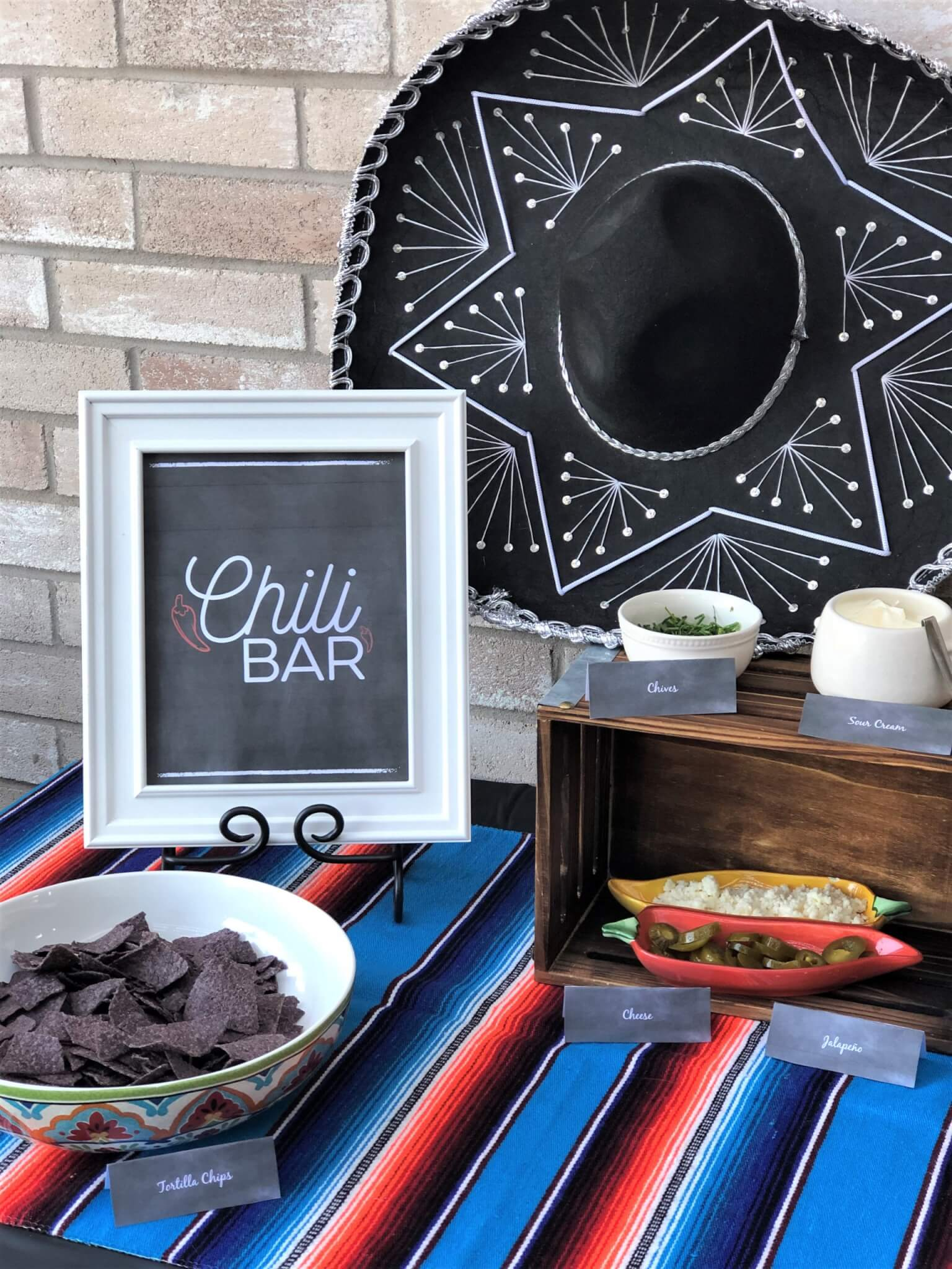Chili Bar Party Tips and Ideas with free printables