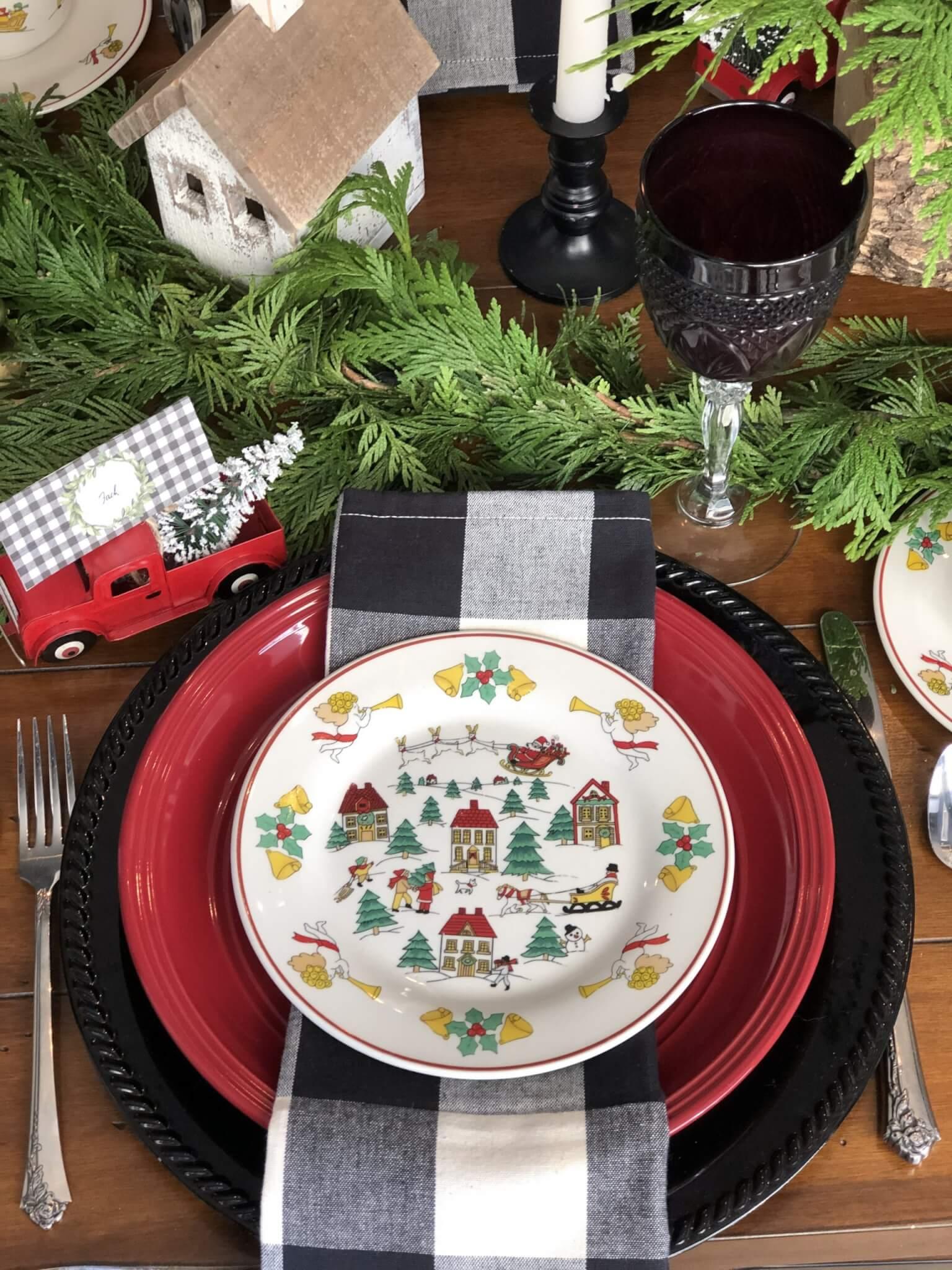 Home for the Holidays Christmas dessert plates.rt