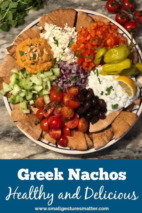 Greek Nachos with Tzatziki Sauce and Hummus