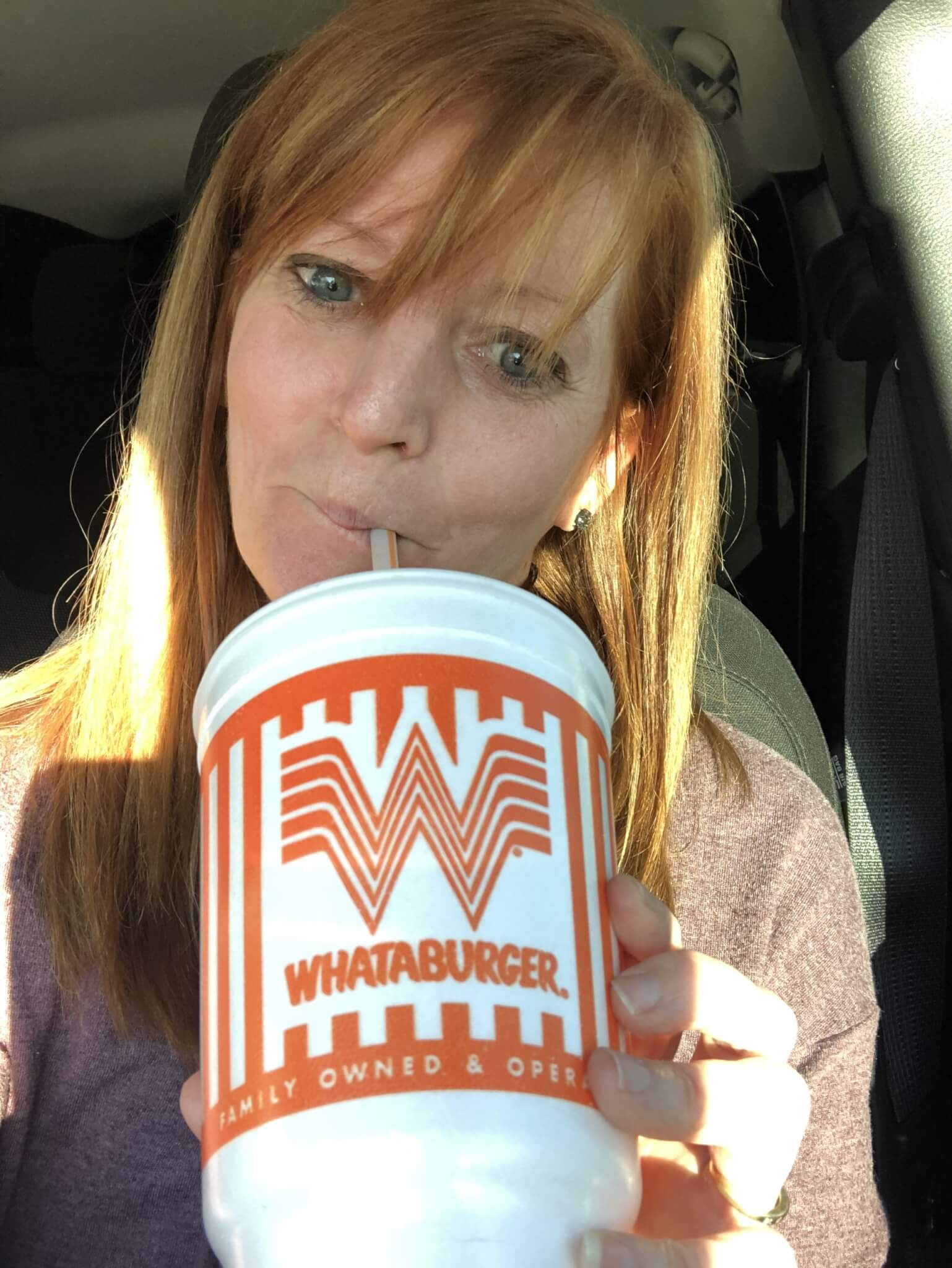 Drinking Whataburger coke - conquer cravings